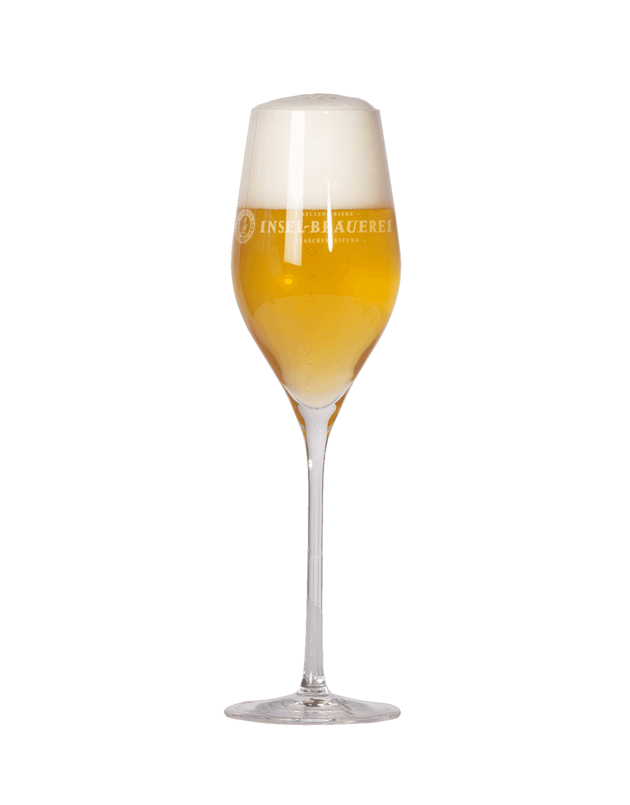 Aperitifglas - Logo Insel-Brauerei