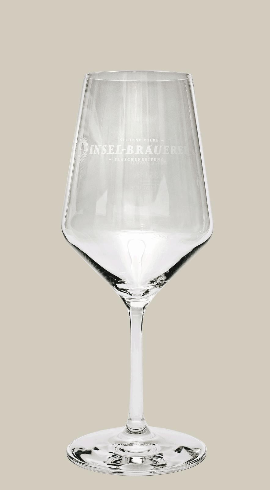 Sommelierglas - Logo Insel-Brauerei