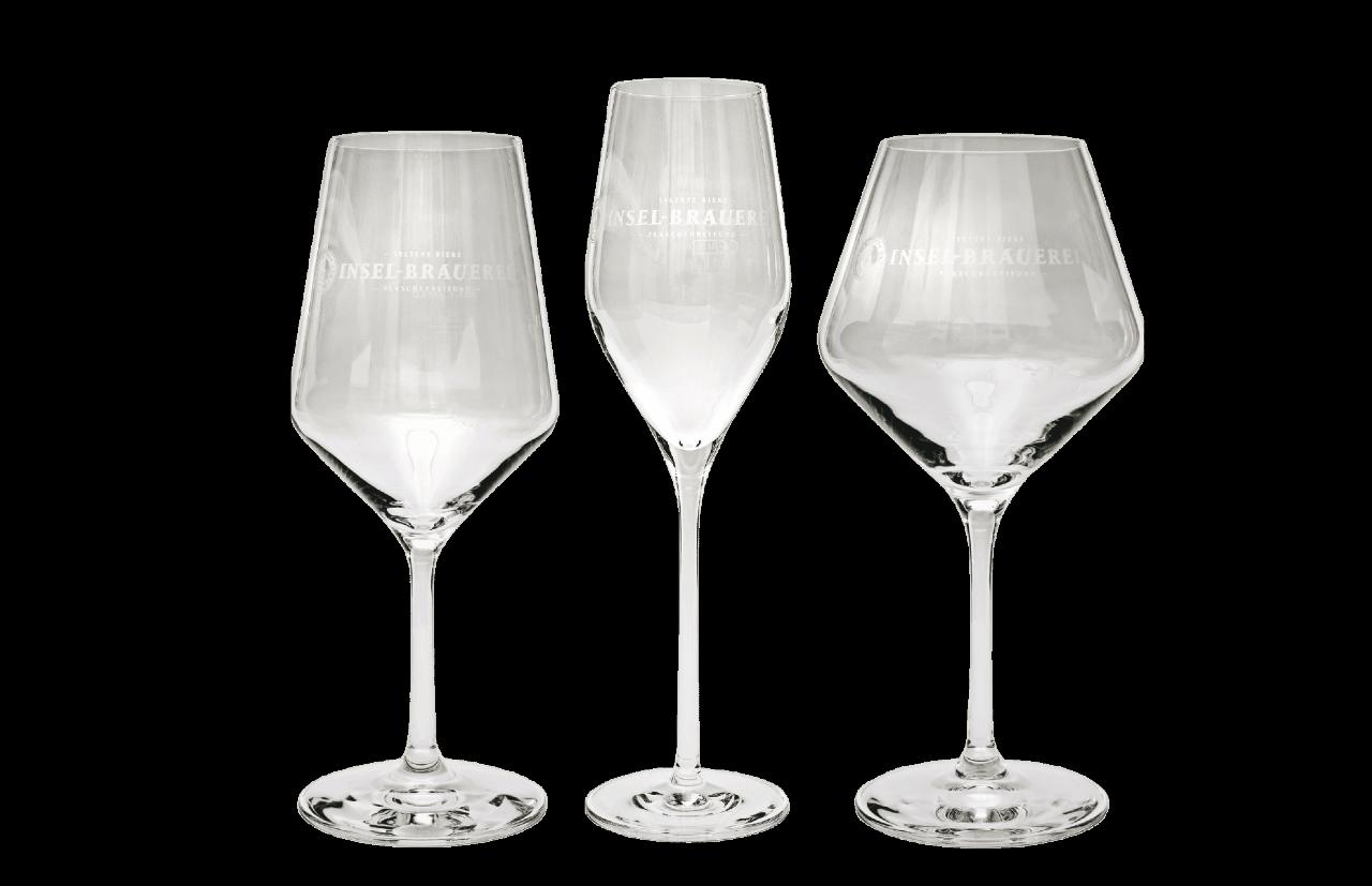 6 x Gourmet Glass - Logo Insel-Brauerei