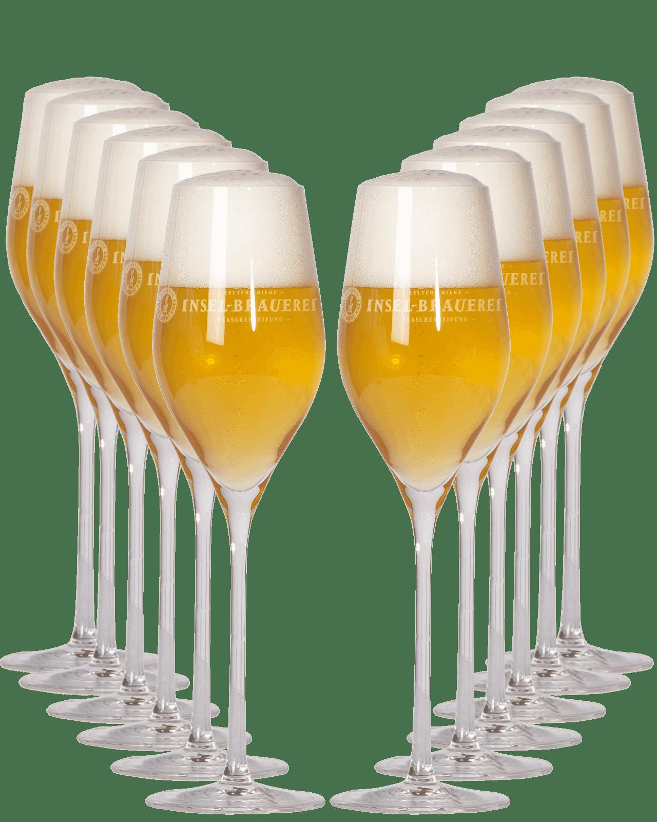 12 x Aperitif Glass - Logo Insel-Brauerei